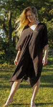 Load image into Gallery viewer, Tulum Kaftan Tunic Black