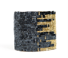 Load image into Gallery viewer, Metallic Blue + Gold Cuff
