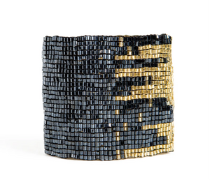 Metallic Blue + Gold Cuff