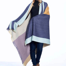 Load image into Gallery viewer, Alpaca Throw Indigo Gold