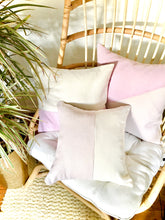 Load image into Gallery viewer, Linen Lavender + Ivory Pillow 18""