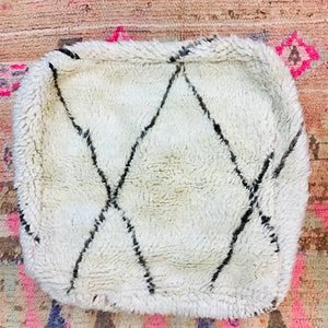 Vintage Moroccan Floor Cushion Beni Ourain