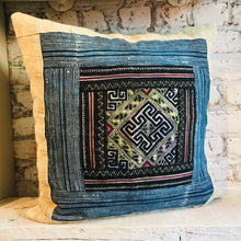 Load image into Gallery viewer, H'Mong Indigo Pillow