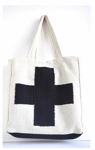 Black + White Cross Bag