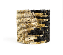 Load image into Gallery viewer, Black + Gold Cuff