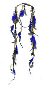 Aquene Feather Laureate in Cobalt and Gold - AmatoStyle