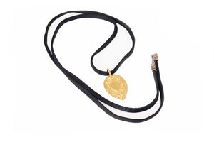 Michele Leather Cord Necklace