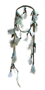 Aquene Feather Laureate Turquoise - AmatoStyle