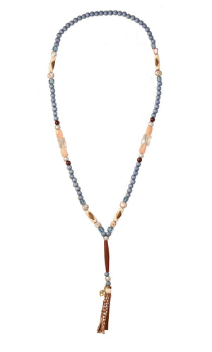 CATORI Stackable Necklace in powder blue - AmatoStyle