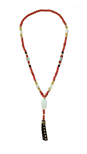 CATORI Stackable Necklace in Red - AmatoStyle