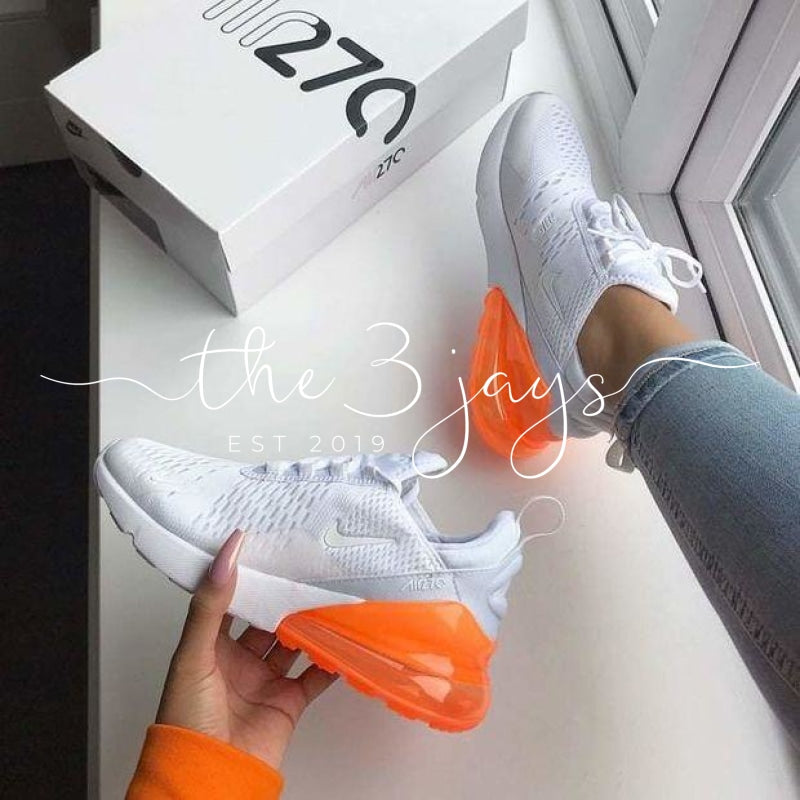 Air Max 270 White Orange The Three Jays