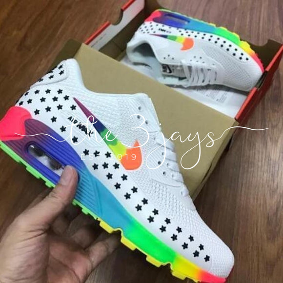 Airmax Rainbow White