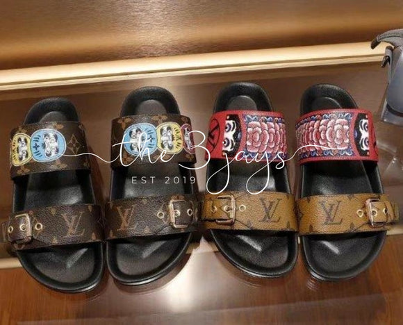 Fashion Lux Lv Slides