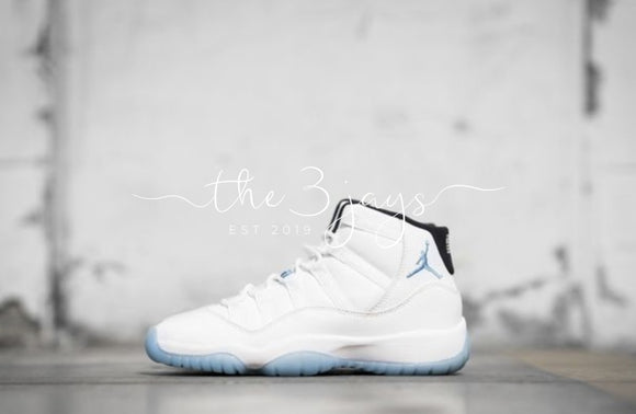 Jordan 11 Retro Gs Legend Blue Columbia