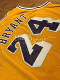 Kobe Bryant #24 Los Angeles Lakers Vintage Throwback Gold / Yellow Mens Jersey