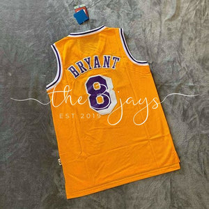 Kobe Bryant La Lakers Hardwood Classics #8 Mens Swingman Jersey Gold