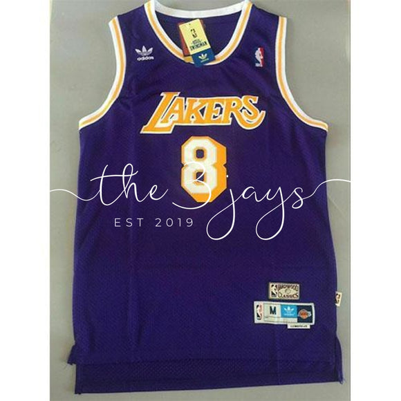 Kobe Bryant La Lakers Hardwood Classics #8 Mens Swingman Jersey Purple