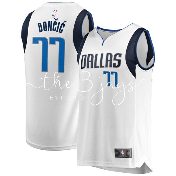 Luka Doncic Dallas Mavericks Fanatics Branded Fast Break Mens Association Edition White