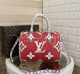 Lv Monogram Speedy Red