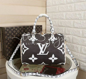 Lv Monogram Speedy White Blck