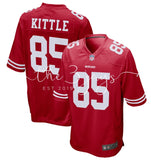 Mens Nike George Kittle Scarlet San Francisco 49Ers Game Jersey