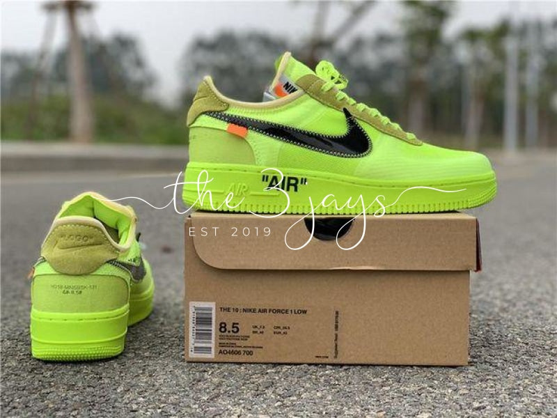 Off White X Nike Air Force 1 Volt The Three Jays