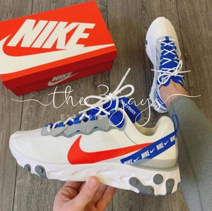 React Element 55 White/habanero Red/game Royal