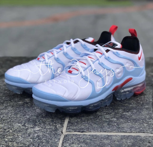 Vapormax Plus Carolina Blue Red