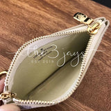 Zipper Key Pouch Clutch