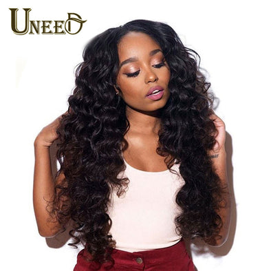 Peruvian Hair Bundles Loose Deep Wave Human Hair Extensions Remy Hair Can Buy 4 Or 3 Bundles Natural Color 1 Piece Hair Weave