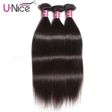 UNICE HAIR Brazilian Straight Hair Bundles Natural Color 100% Human Hair Weave Bundles 8-30inch Remy Hair Extension 1 Piece