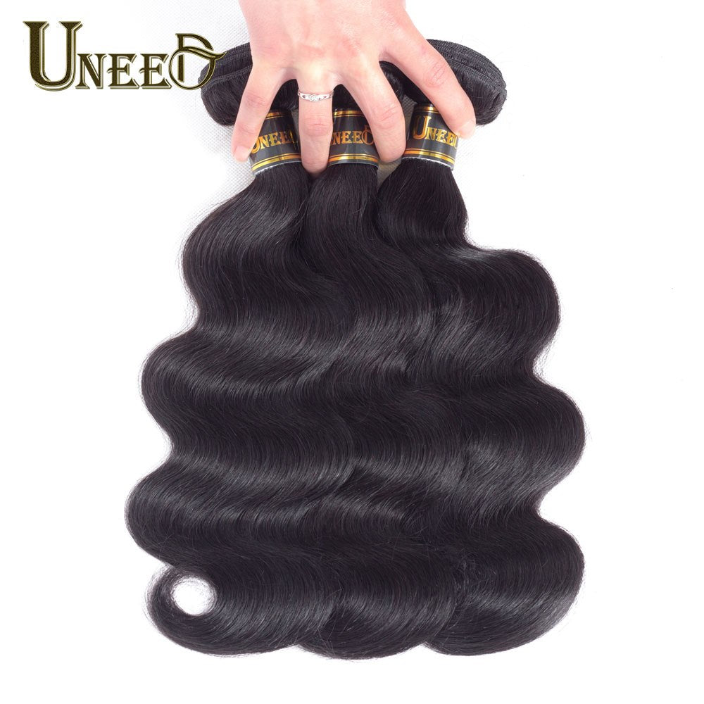 Uneed Hair Brazilian Body Wave Hair Extensions 100 Remy Human Hair We