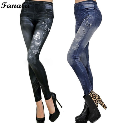 2018 Sexy Jeans Elastic leggings for women Sexy Leggins Print Jeggings Casual Denim Jean Pencil Pants Spring Autumn Trousers#30