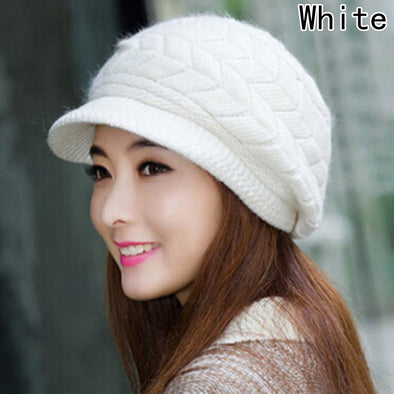 2017 Winter Beanies Knit Women's Hat Winter Hats For Women Ladies Beanie Girls Skullies Caps Rabbit Wool Warm Hat - Bellannisa