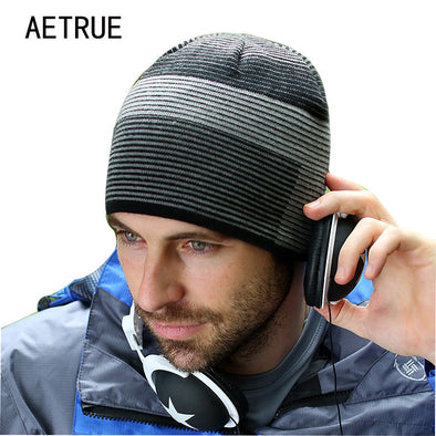 2018 Brand Fashion Beanies Men's Hat Winter Hats For Men Women Caps Skullies Knit Winter Hat Bonnet Beanie Warm Balaclava Cap - Bellannisa
