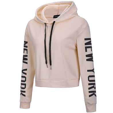 Women Fashion Casual Loose Punk Hooded Hoodie Long Sleeve Stylish Crop Top Spring Autumn Thin Sweatshirt Tracksuit