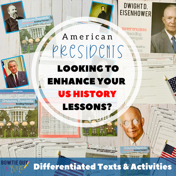 Presidents' Day Lessons, Videos, & Activities (29 days of free texts!)