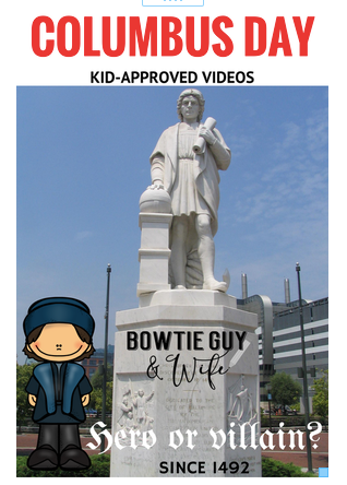 Kid-Approved Columbus Day Videos & a FREEBIE!