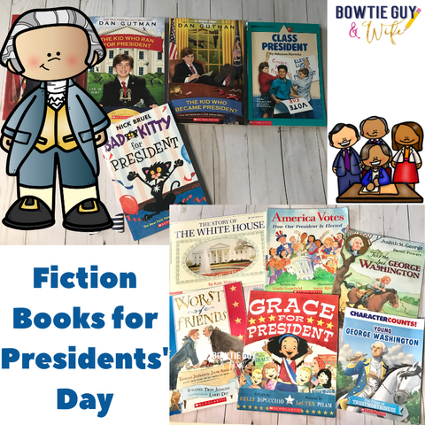 President's Day books for kids by Bow Tie Guy & Wife