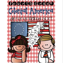 Load image into Gallery viewer, 13 Colonies & Colonial America Sort {Differentiated Interactive Notebook}