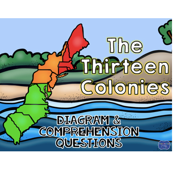 13 Colonies Diagram and Comprehension Questions