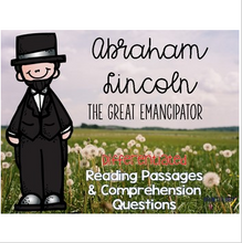 Load image into Gallery viewer, Abraham Lincoln Informational & Nonfiction Text & Comprehension Assessment