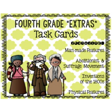 "Load image into Gallery viewer, 4th Grade ""Kitchen Sink"" Extra Standards Task Cards {Scoot}"