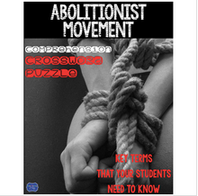 Load image into Gallery viewer, Abolitionist Movement Comprehension Crossword