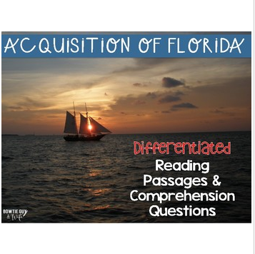 Acquisition of Florida Reading Passages: Leveled Texts for SS Integration