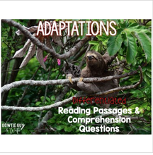 Load image into Gallery viewer, Adaptations of Plants & Animals Informational & Nonfiction Text & Comprehension