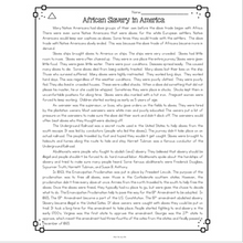 Load image into Gallery viewer, African Slavery in America Differentiated Reading Passages & Questions
