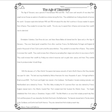 Load image into Gallery viewer, Age of Discovery Differentiated Reading Passages