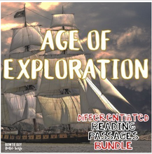Load image into Gallery viewer, Age of Exploration Differentiated Reading Passages of Famous Explorers Bundle