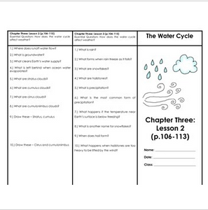 Air, Water Cycle, Weather, & Climate Houghton Mifflin 4th Grade Science Ch. 3